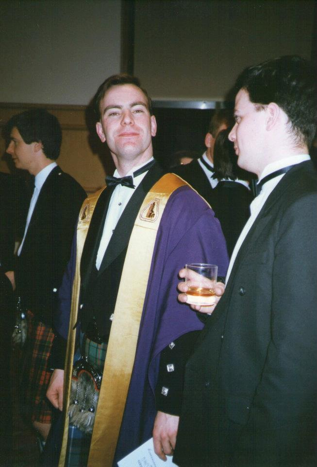 Hugh Cumming, President at the time of the 40th Anniversary celebrations in 1992, wearing the President's robes.