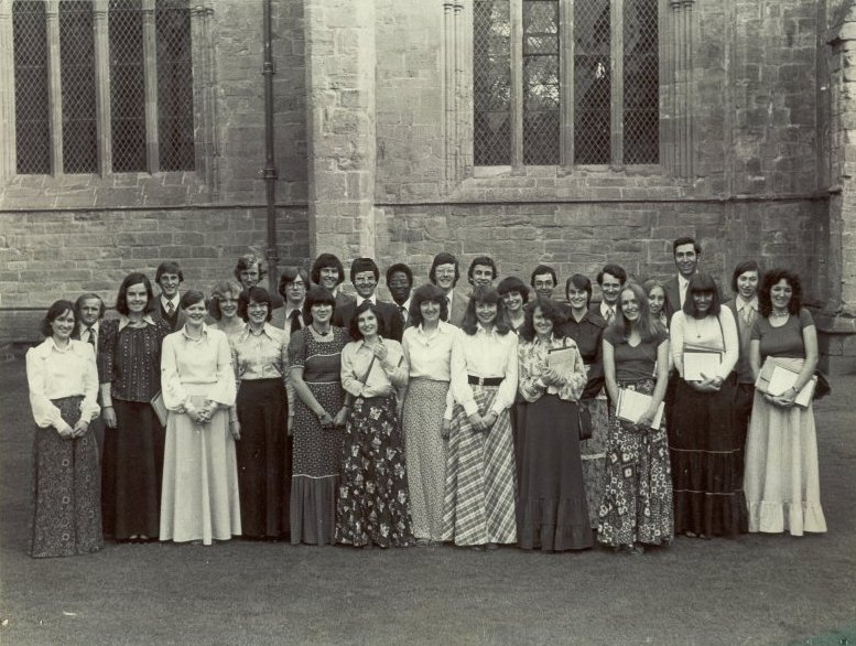 The Cecilian Singers at Dunkeld Cathedral in June 1977.Thanks to Fiona Taylor for the list of names!From L to R regardless of row -Janet Braidwood, Iain Graydon, Fiona Jones, Robert Rocke, Fiona Stevenson, Liz Marshall, John Syme, Catherine Lacy, Charles Millar, Myra David, Donald Grassie, Pat Anton, Ian Blair, Edmund Brown, Lorna Kerr, Brian Robertson, Eric McAllister, Catriona McIntyre, Alison Pollock, Alison Brown, John Kingsley, Fiona Taylor, Ian Lyle, Marion Donaldson, Ann Lindsay, Bill Edelstein, Helen Louden, David Watson, Eunice Phillips.Brian Robertson was the conductor who had taken over from John Hosegood.