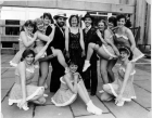 Promo pic for Guys and Dolls 1985. Alison Smith is back row second...